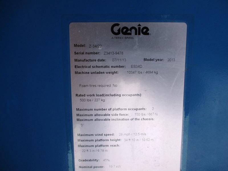 2013 Genie Z34/22IC-12