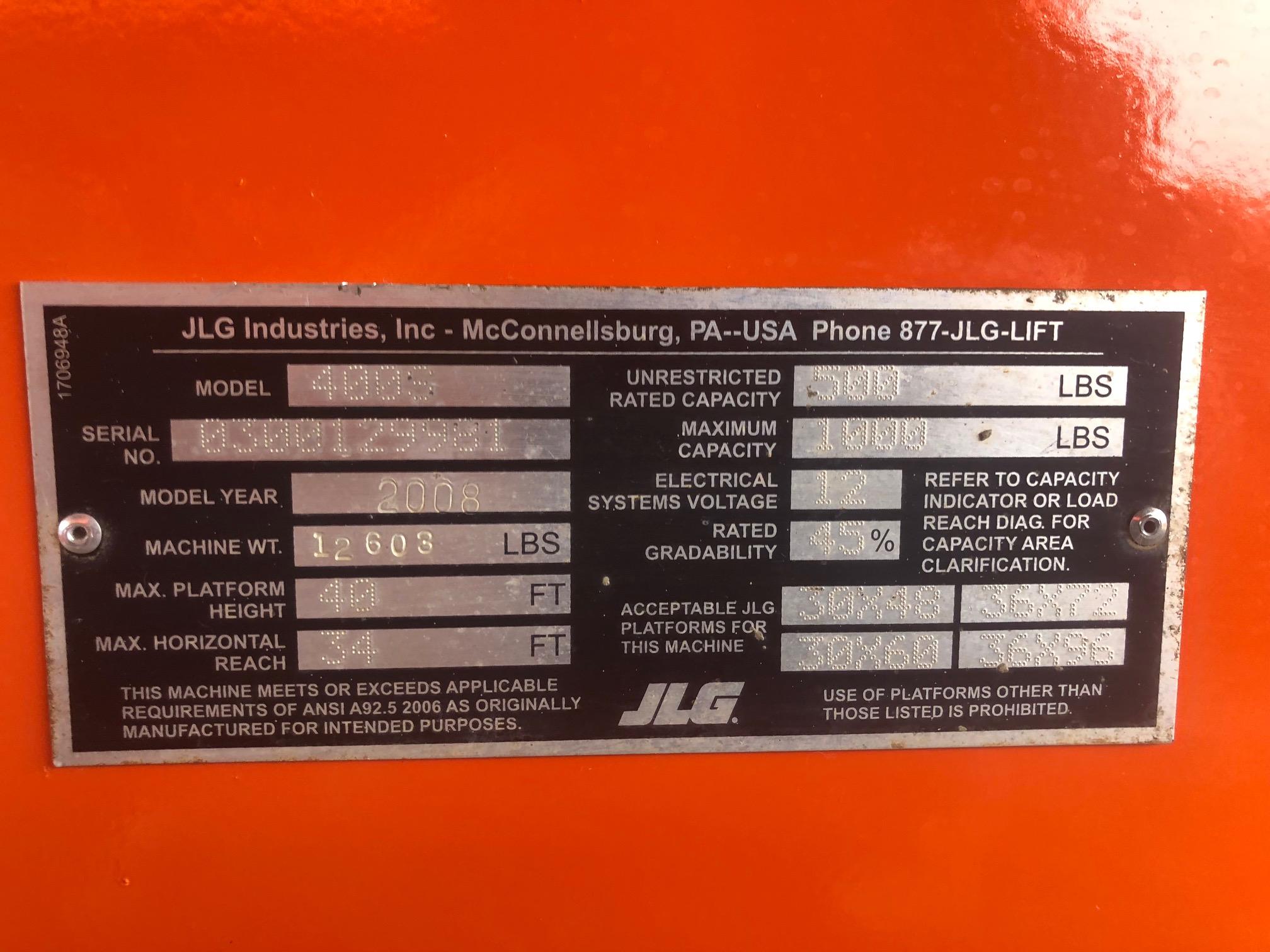 2008 JLG 400S-12