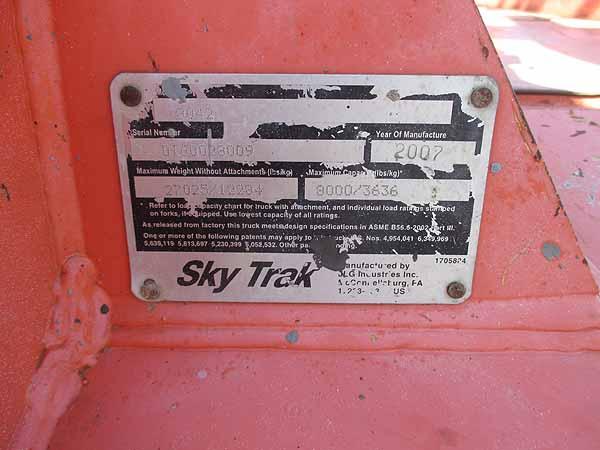 2007 SkyTrack 8042-14