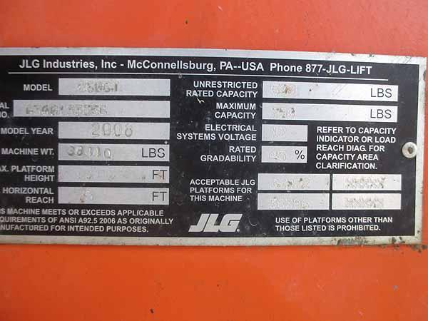 2008 JLG 860SJ-8
