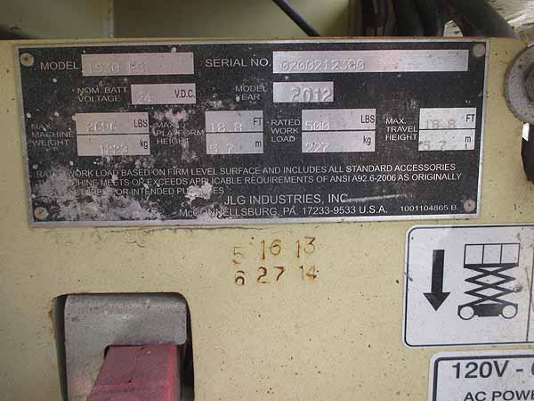 2012 JLG 1930ES-8
