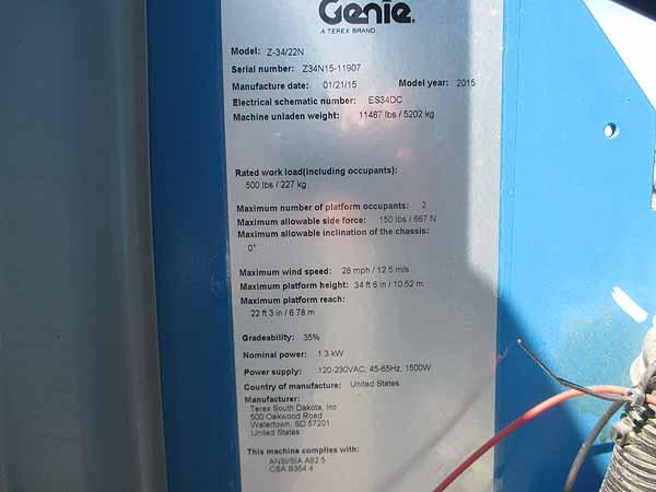 2015 Genie Z34/22N-10