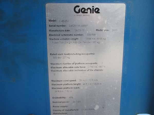 2013 Genie Z45/25JRT-10