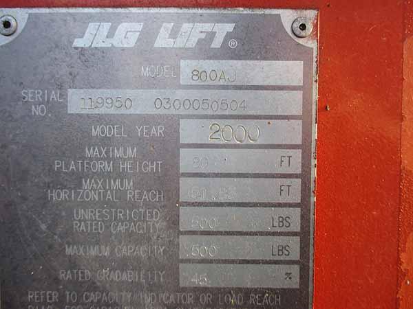 2000 JLG 800AJ-11