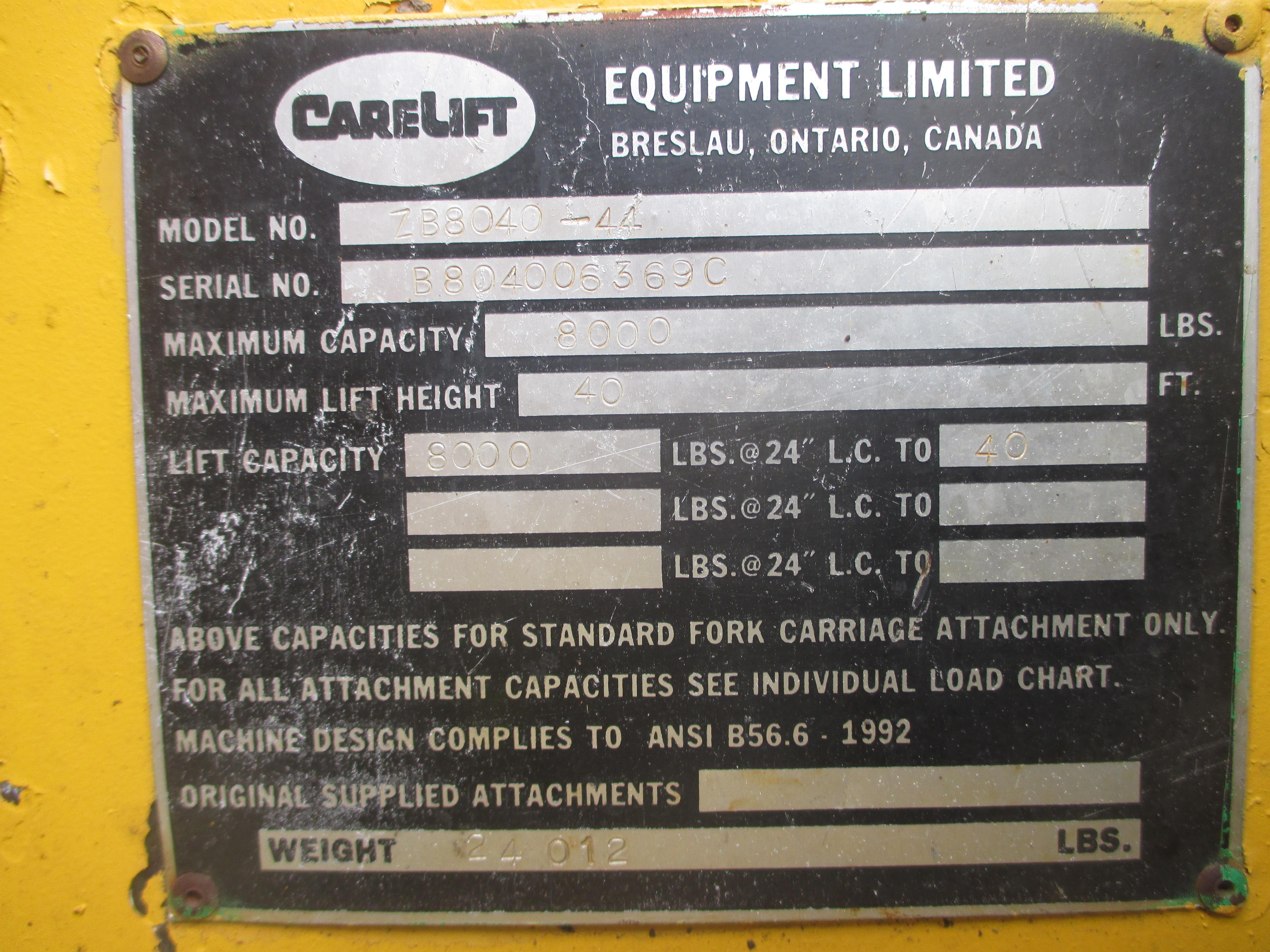 2000 Carelift 8040-11