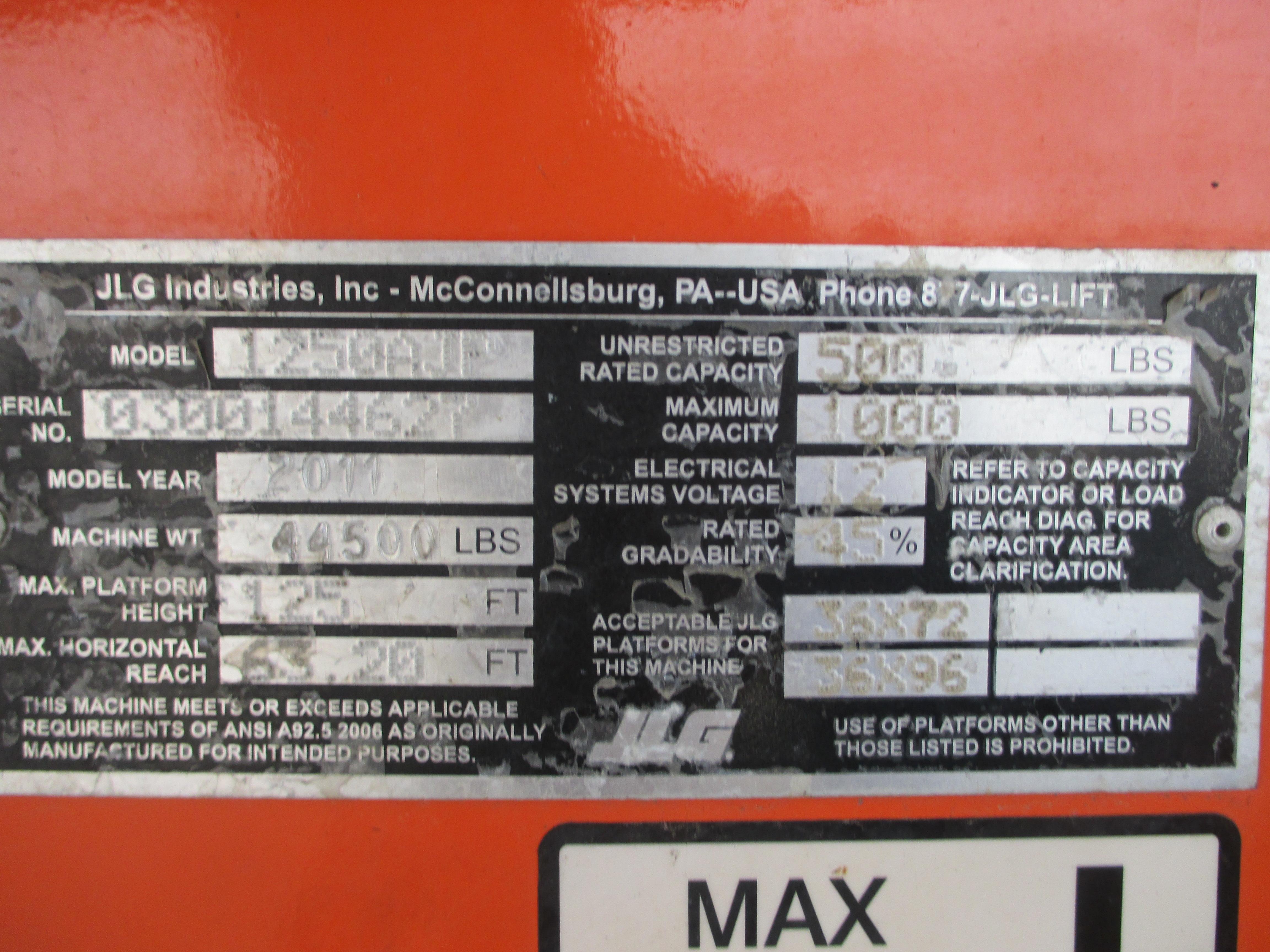 2011 JLG 1250AJP-16