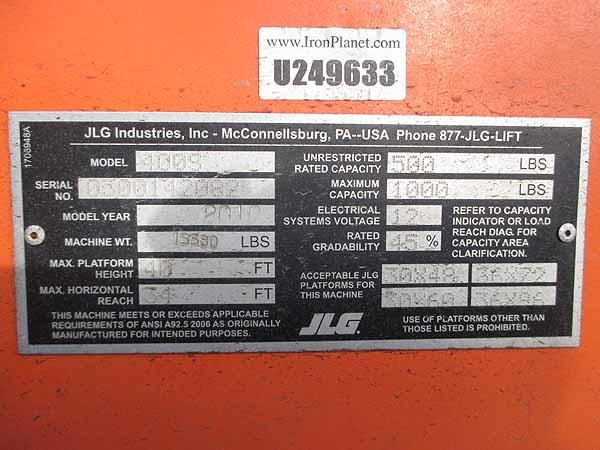 2010 JLG 400S-12