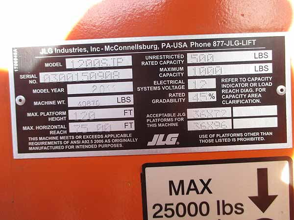 2011 JLG 1200SJP-12