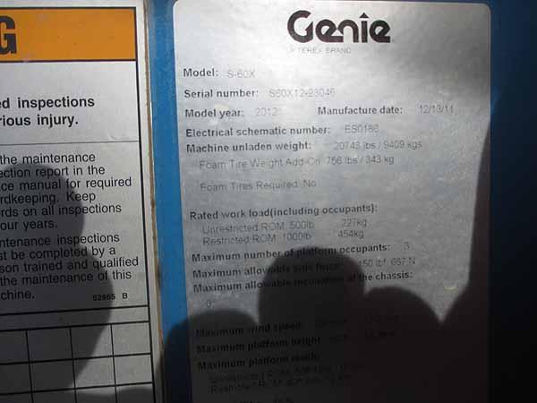 2012 Genie S60X-11