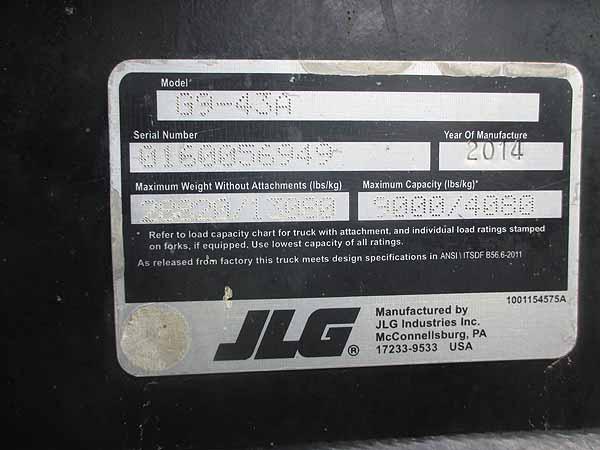2014 JLG G9-43A-12
