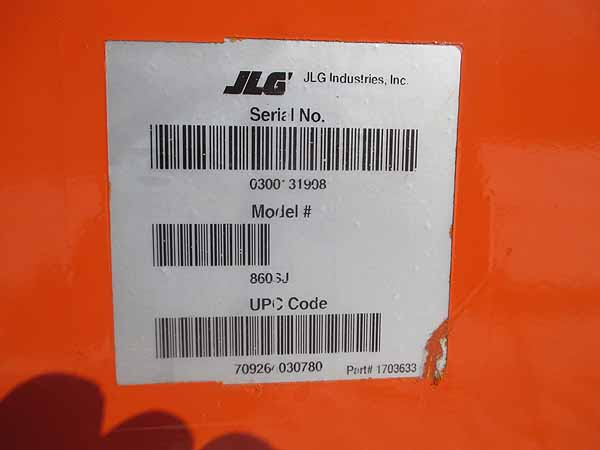 2008 JLG 860SJ-11