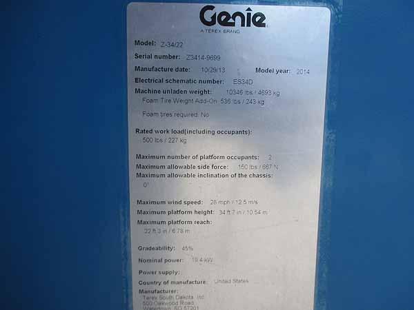 2014 Genie Z34/22IC-11