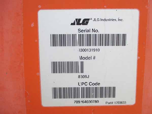 2008 JLG 860SJ-12