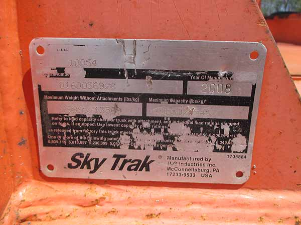 2008 SKYTRAK 10054-14